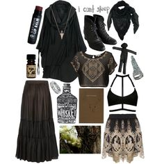 Swamp witch by petprouvaire on Polyvore featuring Rememberclick, AllSaints, Voodoo Jewels, House of Harlow 1960, Mark's Tokyo Edge, witch, southerngothic, witchy and swampwitch
