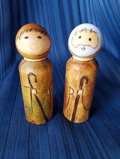 Peg doll nativity set