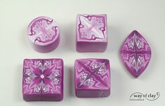 kaleidoscope canes by way of clay, via Flickr