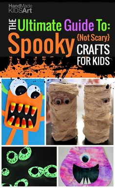 Halloween Crafts for Kids: The Ultimate Guide to Spooky, not scary crafts for Kids. Over 30+ project ideas including video tutorials!