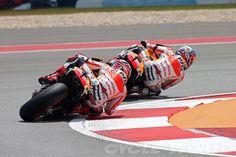 Dani Pedrosa and Marc Marquez dragging that elbow - Repsol Honda Team