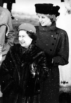 December 25, 1985: Princess Diana and members of the family, at Sandringham in 1985. Princess Diana with Queen Elizabeth II.