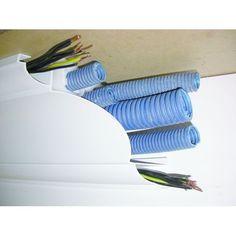 Goulotte corniche de plafond cache tuyaux ou gaines électriques | Goulotte corniche