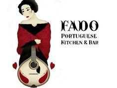 Fado Portuguese Kitchen & Bar Poster Ads, Portuguese, Portland, Bar, Disney Characters, Kitchen, Portugal, Restaurant, Illustrations