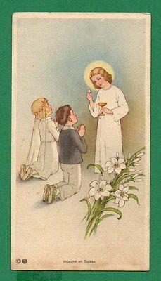 Eucharistic Infant Jesus Communion Children Old Holy Card   eBay