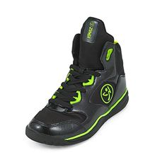Amazon.com | Zumba Women's Energy Boom High Top Dance Workout Sneakers With Enhanced Comfort Support, Black, 5 | Shoes