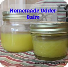 I have found the BEST homemade udder balm EVER! It is easy to make, smells great, and it works. This udder balm has been amazing to use......