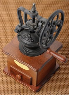 Antique Coffee Grinder: I keep my eyes open for this item all the time at the hand stores but have yet to see even one. I have an electric grinder but Id love to have an old manual one. - Coffee Grinder - Ideas of Coffee Grinder