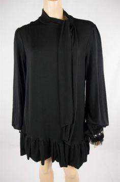 JOSEPH RIBKOFF Black Evening Cocktail Dress Long Sleeve Jersey Knit Sz 8