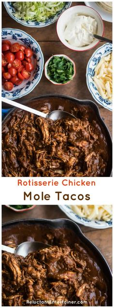 Rotisserie Chicken Mole Tacos Recipe