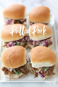Pulled Pork Sliders - a delicious appetizer or yummy main course