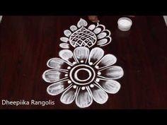 Design Discover Very Easy Rangoli Design Very Easy Rangoli Designs, Best Rangoli Design, Rangoli Designs Flower, Small Rangoli Design, Rangoli Border Designs, Rangoli Designs With Dots, Simple Rangoli, Rangoli Borders, Rangoli Patterns