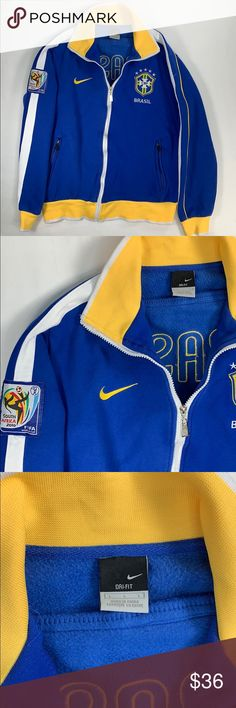Nike Dry FIt 2010 Brazil World Cup S Africa jacket In very good preowned  condition b7858d8d0