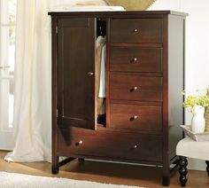 Farmhouse Chifforobe   Pottery Barn.  To replace my dresser so Danny can hang some clothes :-)