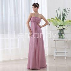 elegant empire waist column chiffon evening gown formal dress in custommade. $145.00, via Etsy.