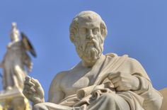 Statue of Plato at Academy of Athens, Greece<br />