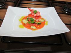 Millefeuilles  de  tomate   avec  homards     Gino D'Aquino