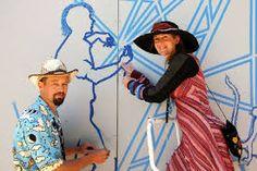 World Buskers festival Buskers Festival, Tape Art, Street Art