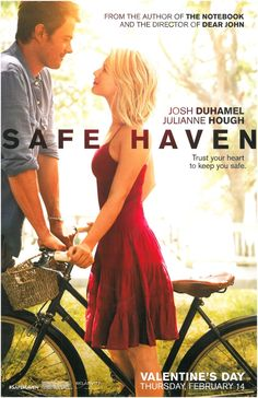 Julianne Hough and Josh Duhamel star in one of Nicholas Sparks movie adaptation Safe Haven.