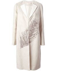 Tory burch Embellished Coat in Beige (NUDE & NEUTRALS) | Lyst