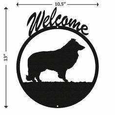 Sheltie Black Metal Welcome Sign
