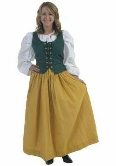 A female Hobbit dress style skirt