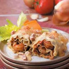 Cajun Shrimp Lasagna Roll-Ups