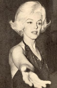 Marilyn Monroe, at the 1962 Golden Globes.