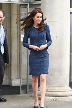 Kate Middleton wearing Manolo Blahnik Calogera Pumps, Rebecca Taylor Sparkle Tweed Ruffle Jacket, Rebecca Taylor Tweed Skirt and Rebecca Taylor Tweed Jacket