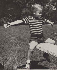 Striped Tops 1950s Knitting Knit Strip Top Shirt от TheStarShop