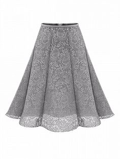 Shop Gray High Waist Overlay Lace Skirt from choies.com .Free shipping Worldwide.$23.99