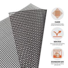 Non Stick Grill Mat x 3 pieces - LazyFry Barbecue Grill, Grill Oven, Grill Grates, Kebabs, Barbacoa, Plastic Mat, Portable Grill, Mat Online, Gourmet Burgers