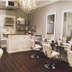 Reception desk Shabby chic made to order Augusta Home Beauty Salon, Home Hair Salons, Beauty Salon Decor, Beauty Salon Design, Beauty Salon Interior, Salon Interior Design, Beauty Salons, In Home Salon, Small Beauty Salon Ideas