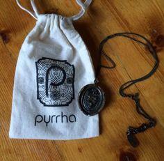 Pyrrha Talisman Necklace~ Elephant Heraldic Shield for Good Luck~ Jewelry - http://elegant.designerjewelrygalleria.com/pyrrha/pyrrha-talisman-necklace-elephant-heraldic-shield-for-good-luck-jewelry/