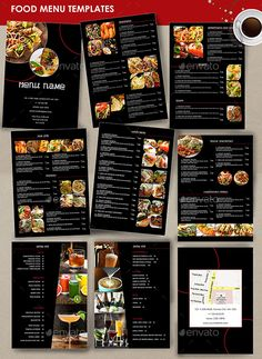 Restaurant Menu black - 9 Pages - Restaurant Flyers