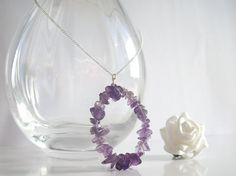 Amethyst Pendant, Sterling Silver Necklace by purplewyvernjewels