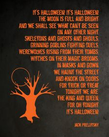 It's Halloween! It's Halloween!  I read this book to my daughter every year.