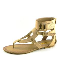 Look at this Rio Beige Gladiator Sandal on #zulily today!