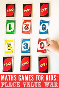 A fun adaptation of the popular kids card game, War, this math game is perfect…