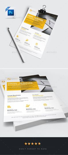 Buy Corporate Clean Flyer by PantonStudio on GraphicRiver. Corporate Clean Flyer Corporate Clean Flyer Design is very easy to use and change text, color, size, look and everyt. Leaflet Layout, Flyer Layout, Brochure Layout, Brochure Design, Creative Flyer Design, Creative Flyers, Business Flyer Templates, Flyer Design Templates, Corporate Flyer