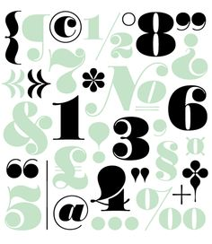 Worthe Numerals from House Industries (love that mint)
