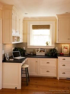 Traditional White Kitchen Cabinets #04 (Crown Point.com, Kitchen Design