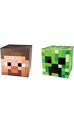 """Minecraft 12"""" Steve and Creeper Exclusive Head Costume Mask (Set of 2) Best Price"""