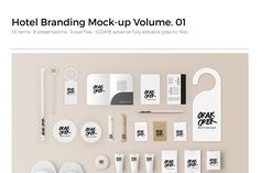 Hotel Amenity / Branding Vol.1 - Product Mockups