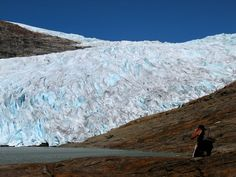 Photographing the Photographer at Svartisen Glacier. | by artic pj