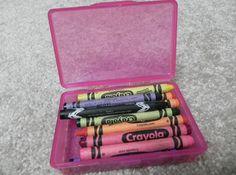 como organizar crayones