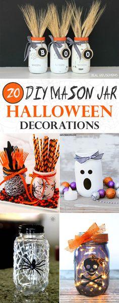 20 Amazing Mason Jar Halloween Decorations You Can Make Yourself