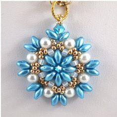 Aqua Gold and White Hand Beadwoven Pendant by ChainedByLightness Aqua Gold and Bla . - Aqua Gold and White Hand Beadwoven Pendant by ChainedByLightness Aqua Gold and White Hand Beadwoven - Bead Jewellery, Seed Bead Jewelry, Bead Earrings, Pendant Jewelry, Beaded Jewelry, Handmade Jewelry, Beaded Necklace, Beaded Bracelets, Necklaces
