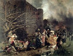 François Flameng (1856-1923): The Massacre of Machecoul . Great composition.  Paintings of the Museums of France: CHOLET