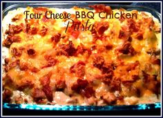 Sweet Tea and Cornbread: Four Cheese Barbecued Chicken Pasta!